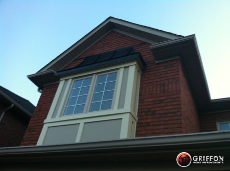 Siding And Capping For Bay Window Fish Scale Toronto Gta